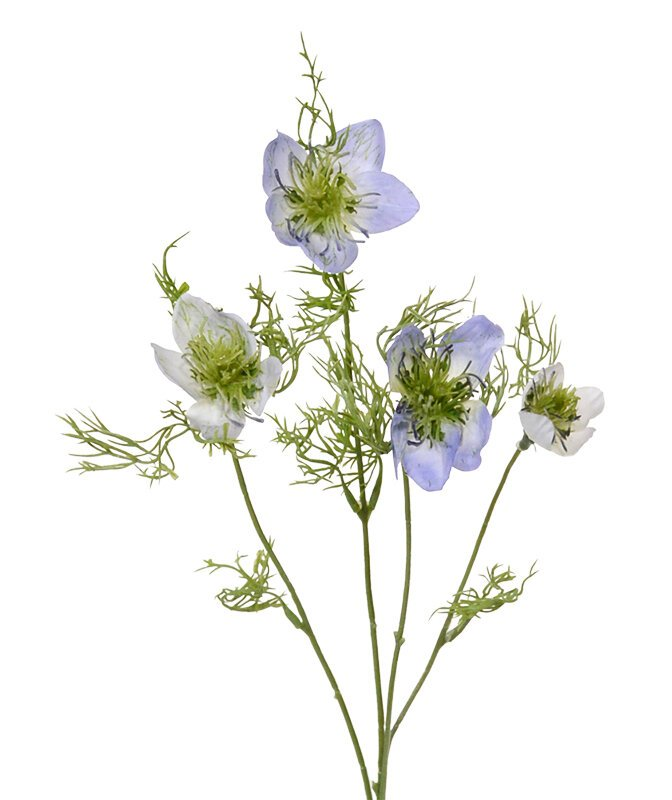 Umelá vetva Nigella 55 cm - modrá