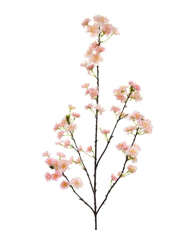 Větev umělého květu 125 cm - růžová