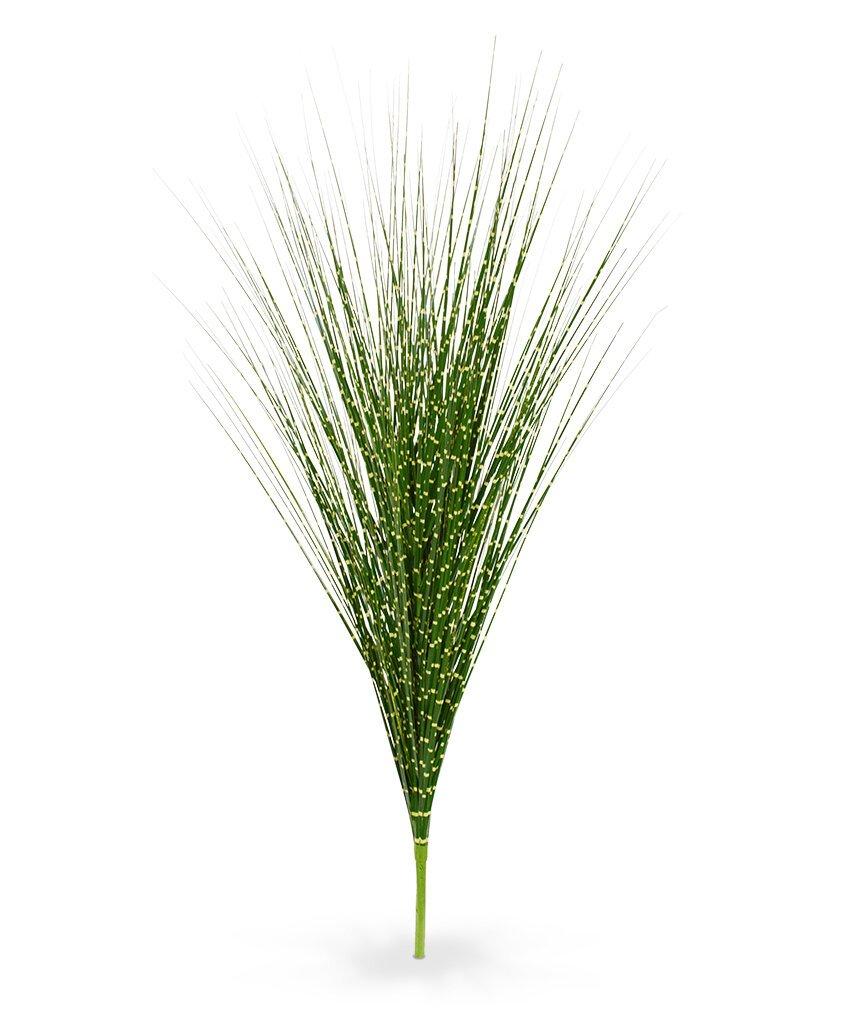Umelý zeleno-žltý zapichovací zväzok trávy Ozdobnica čínska 85 cm