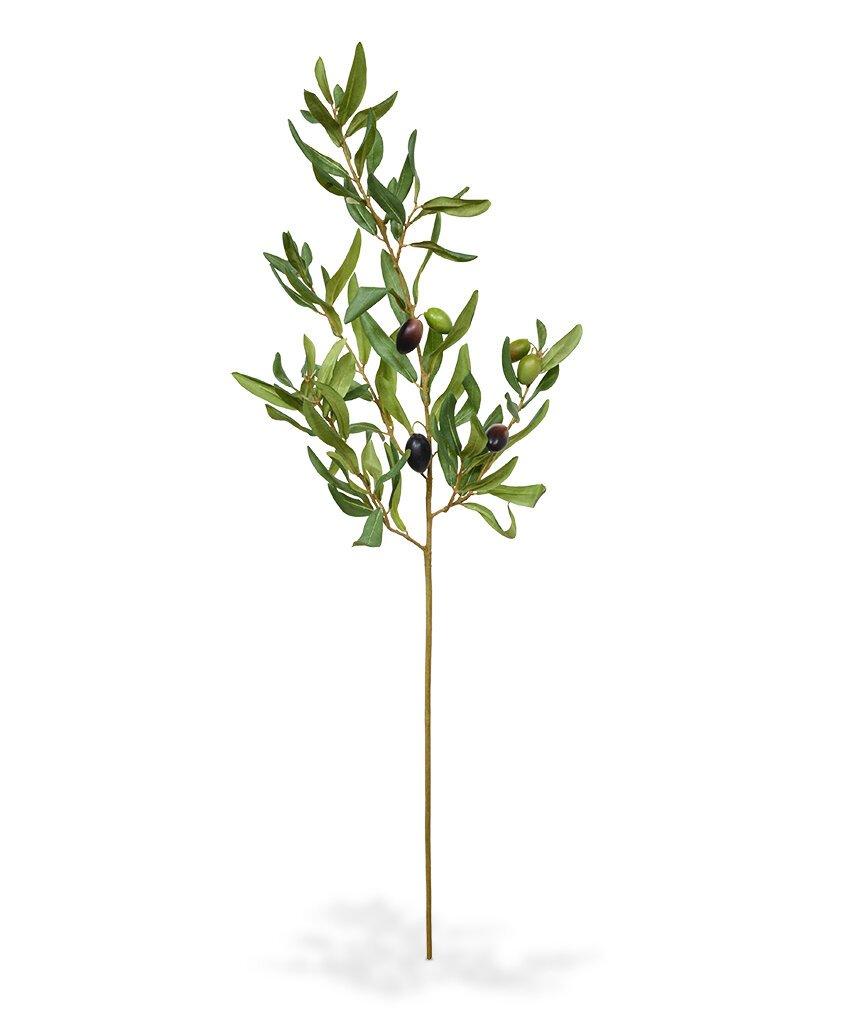 Větev umělé olivy 85 cm