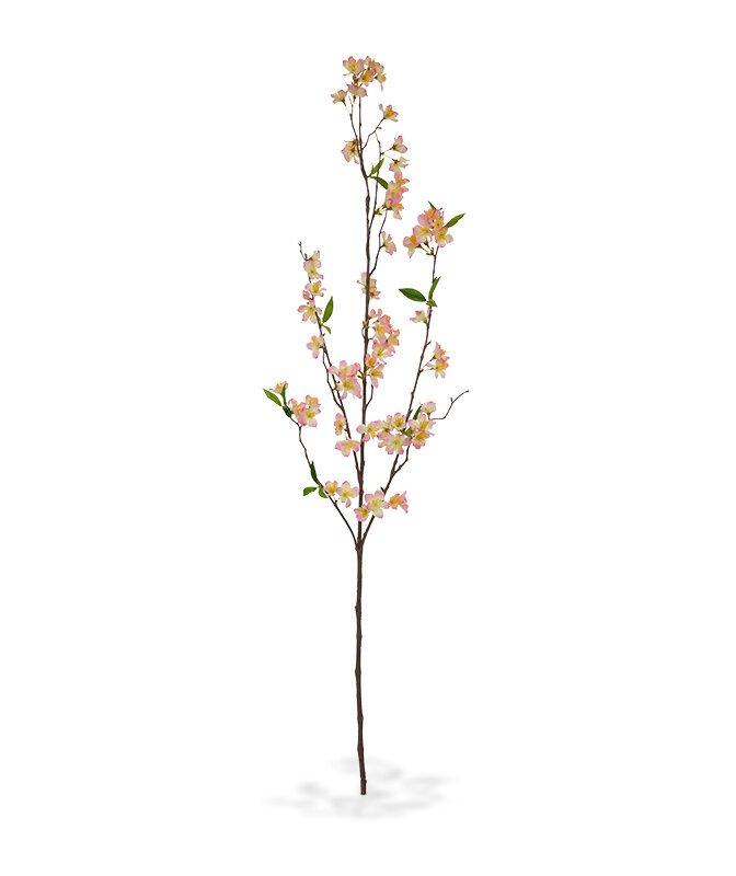 Umělá kvetoucí větev Deluxe 120 cm - růžová