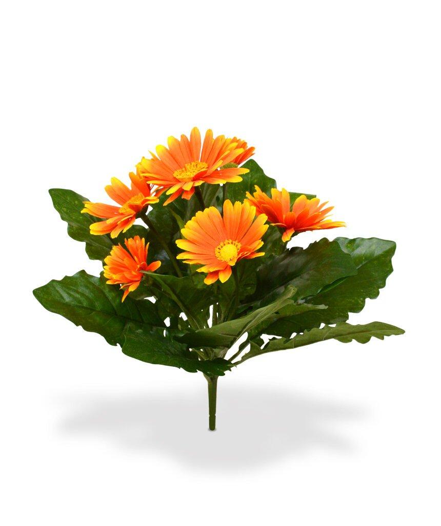 Umelá rastlina Gerbera 30 cm - oranžová