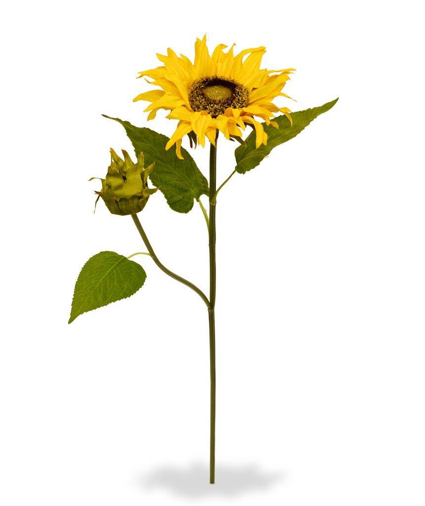 Umělá větev slunečnice Deluxe 55 cm
