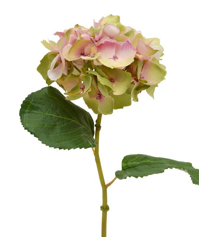 Krásny umelý kvet Hortenzie ružový 45 cm