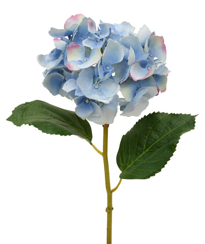 Krásny umelý kvet hortenzie Deluxe 45 cm modrá