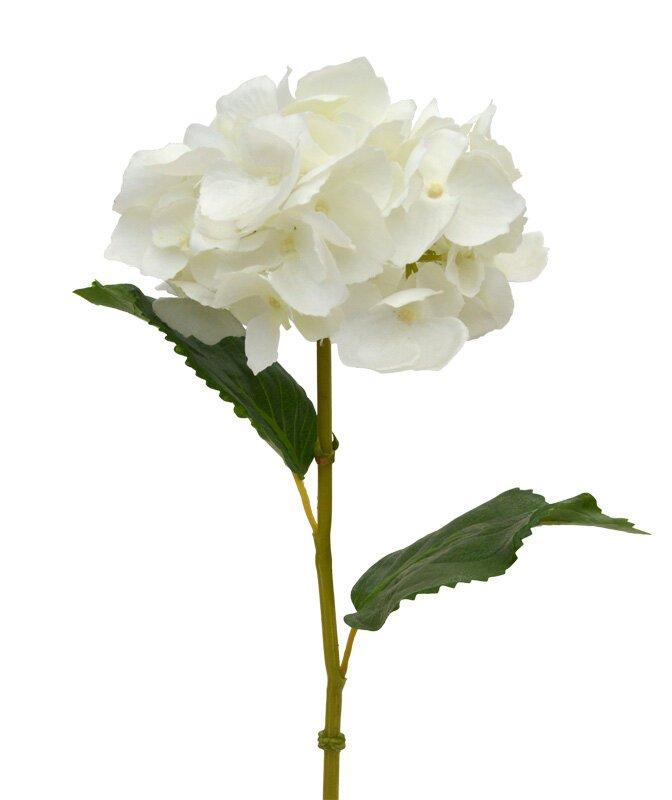 Umelá vetva Hortenzia krémová 45 cm