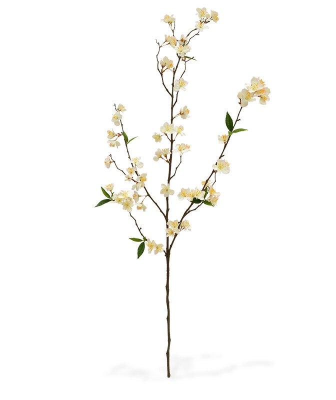 Umělá kvetoucí větev Deluxe 120 cm - krémová