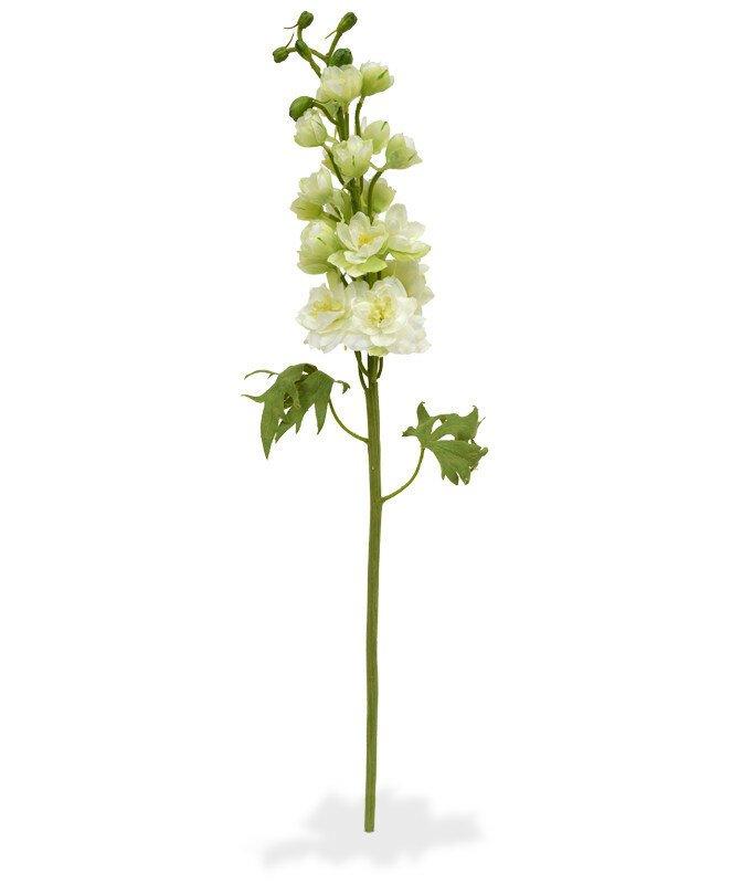 Umělá větev Delphinium 60 cm - krémová