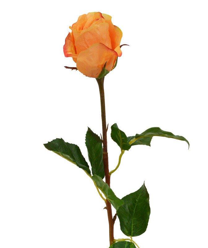 Umělá větev růže 52 cm oranžová