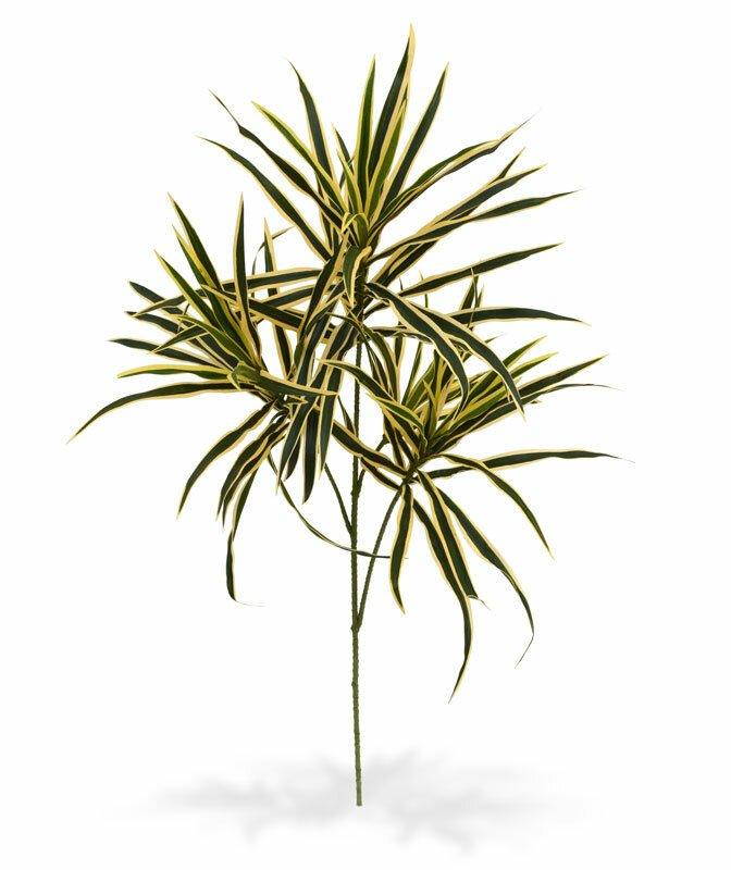 Umělá větev Draceana 80 cm - pestrá