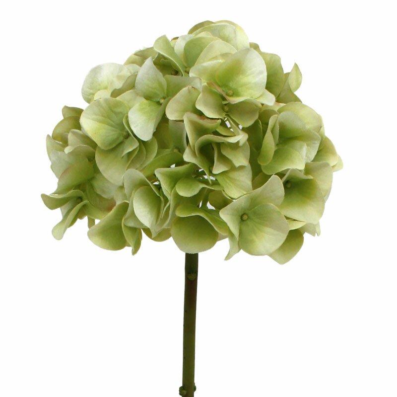 Umelá vetva Hortenzia 50 cm - zelená