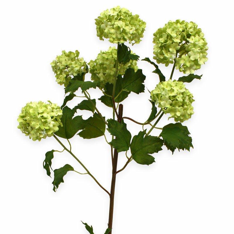 Umělá květ Kalina 110 cm bílá