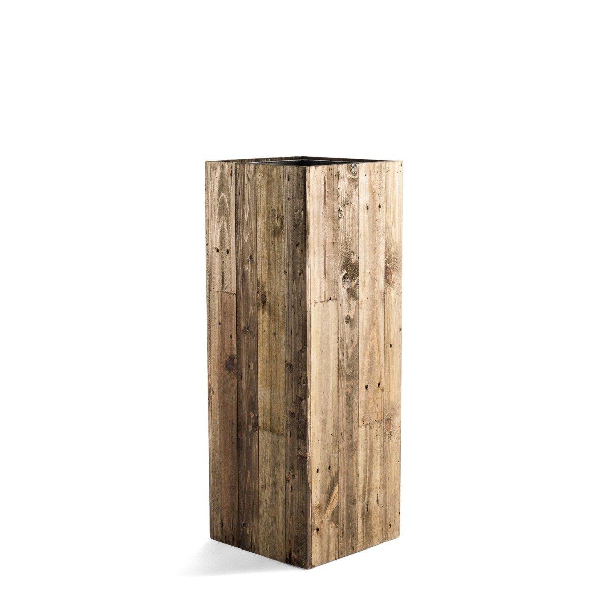 Moderní dřevěný květináč 33x33x94 cm