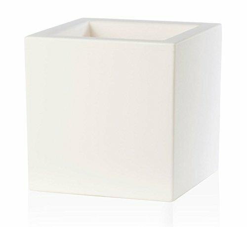 Bílý květináč Cubo 40x40x40 cm