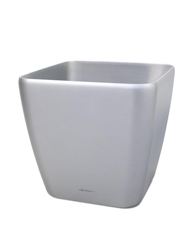 Lechuza Quadro okrasný stříbrný květináč 21x21x20 cm