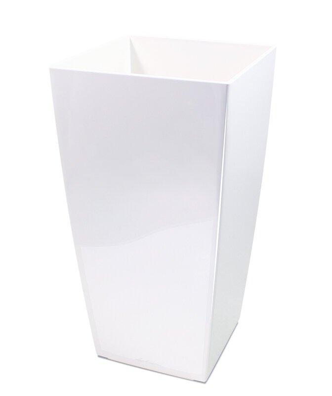 Cubico okrasný květináč 40x40x75 cm - bílý
