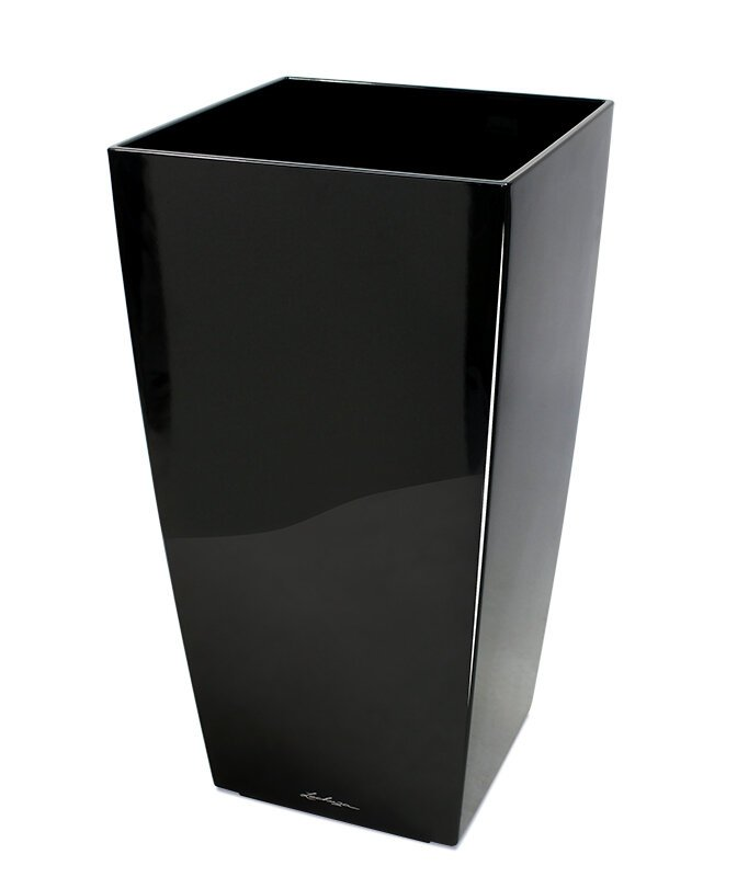 Okrasný květináč Lechuza Cubico 40 x 40 x 75 cm - černý
