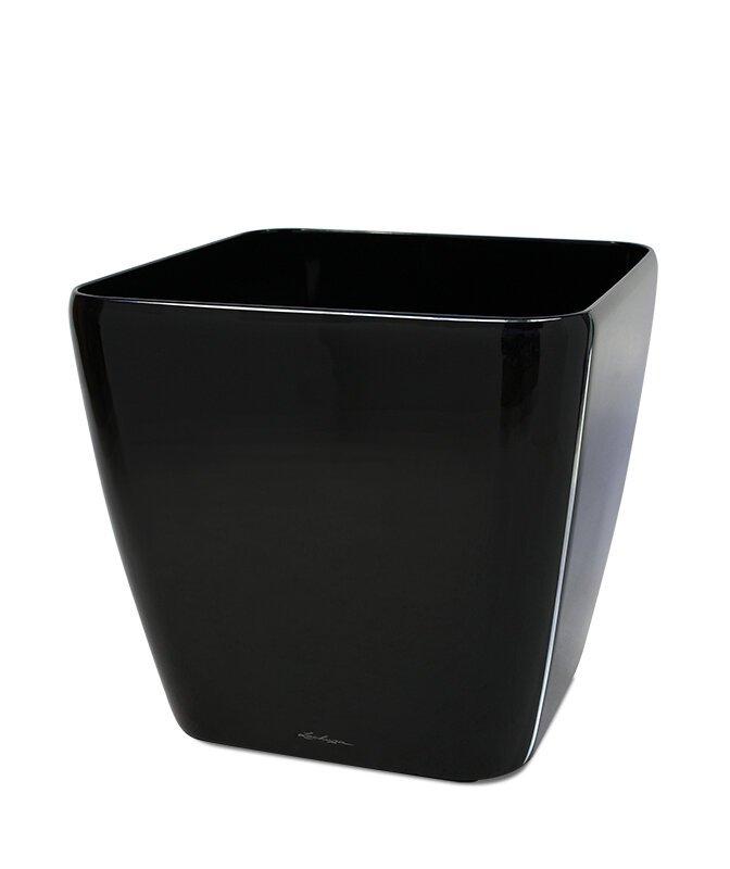 Okrasný květináč Lechuza Quadro 21 x 21 x 20 cm - černý