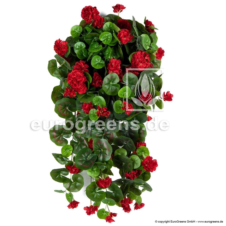 Umělá úponky Pelargónie červená 70 cm