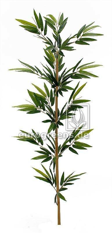 Bambusová vetva z prírodného kmeňa s listami 150 cm