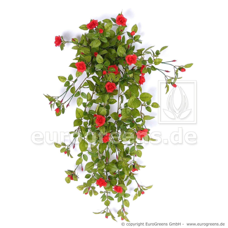 Umělá rostlina růže 80-85 cm červená