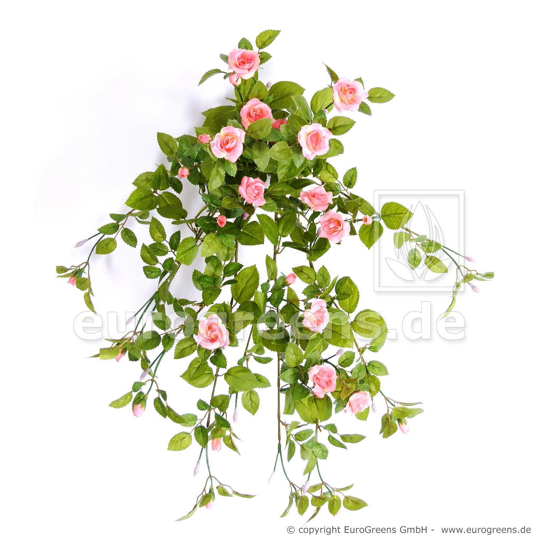 Umelá úponka Ruža - lososová 55 cm