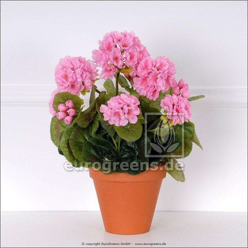 Umelá rastlina Pelargónia ružová 40 cm