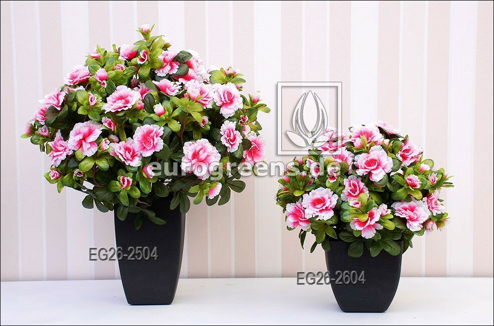 Umělá Belgická Azalea krémově růžová - 40 cm