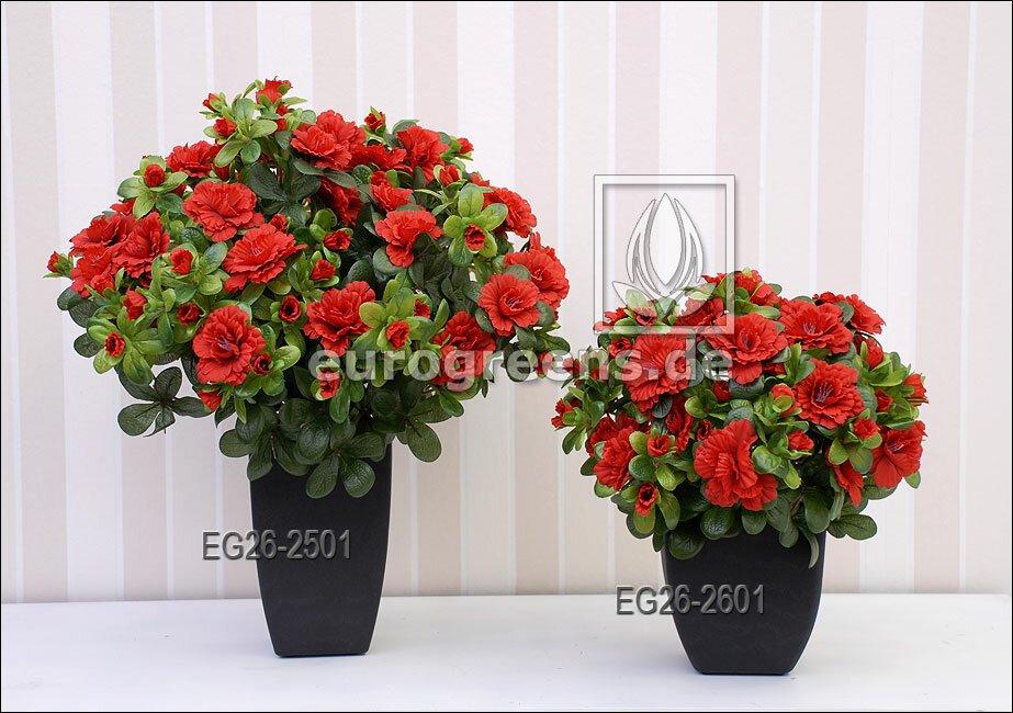 Umelá rastlina Belgická Azalka - červená  25 cm