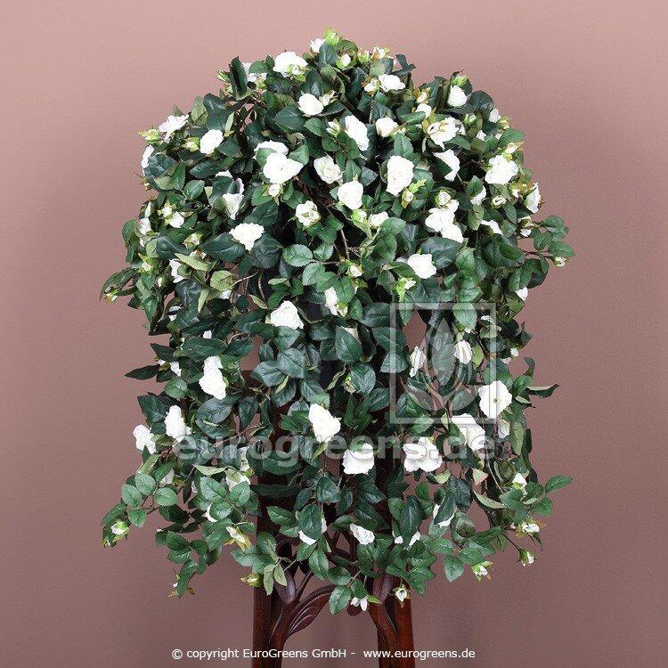 Umělá rostlina Růže - bílá 70 cm