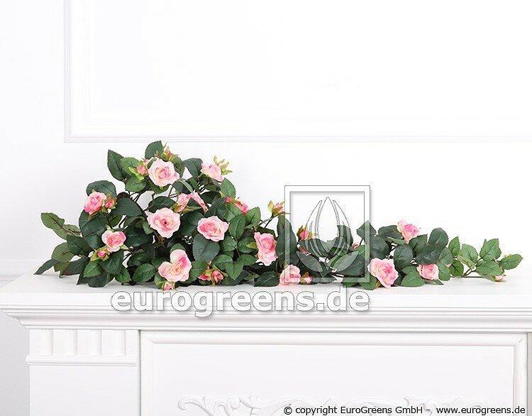 Umělá rostlina Růže - růžová 70 cm