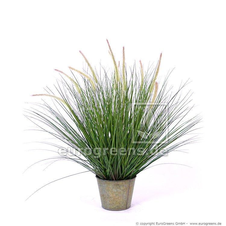 Umelá rastlina Pennisetum - Perovec 85 cm s kvetináčom 85 cm
