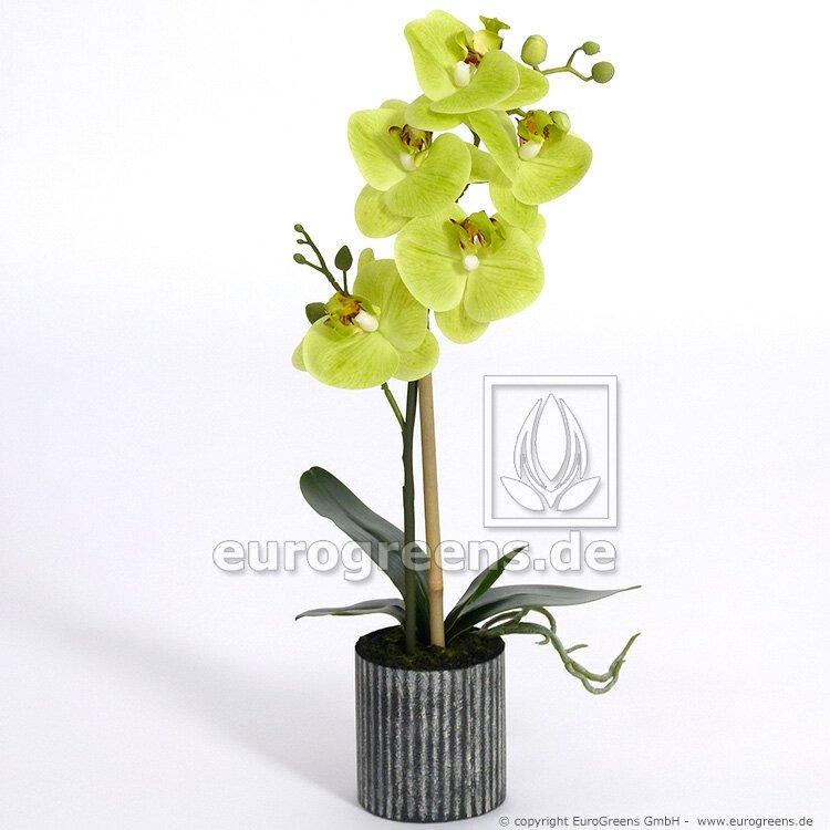 Umelá rastlina Orchidea žltá 45 cm