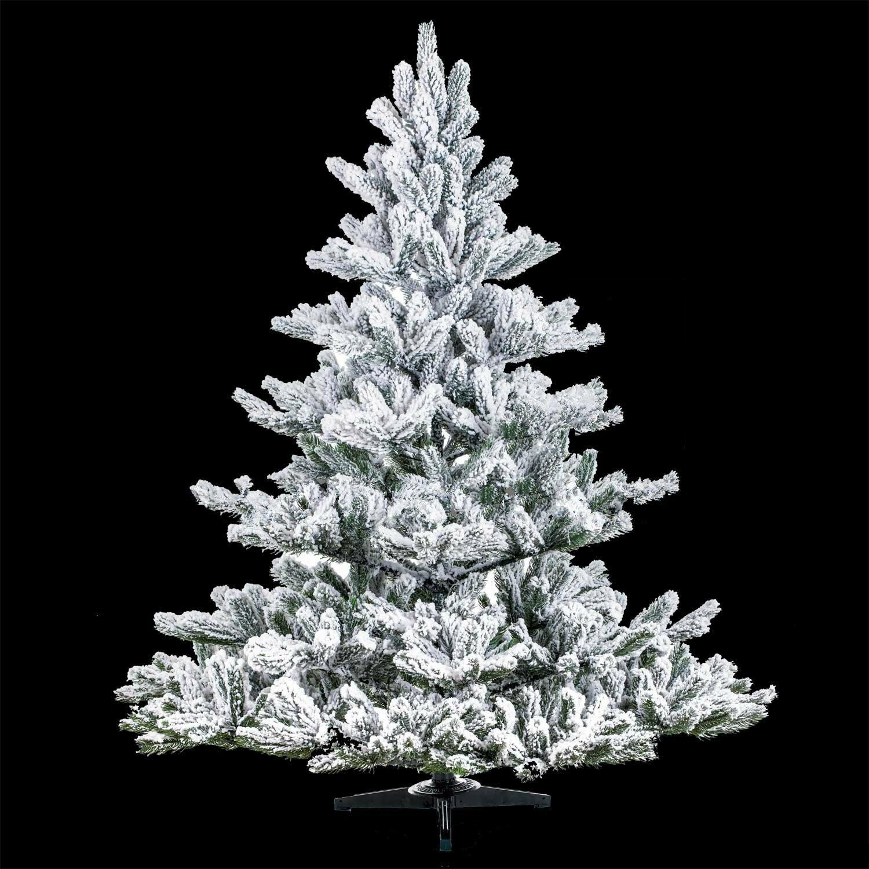 Umělý zasněžený vánoční stromek Jedle Nordmann Alnwick 150 cm