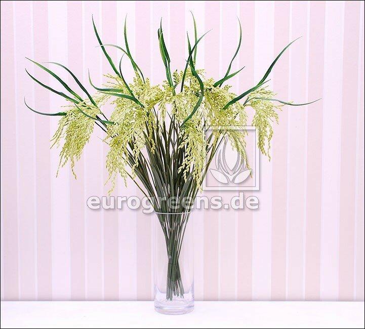 Umělá rýžová větev - zelená 75 cm