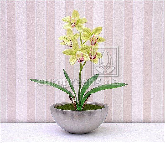 Umelá svetlozelená orchidea Cymbidium 50 cm