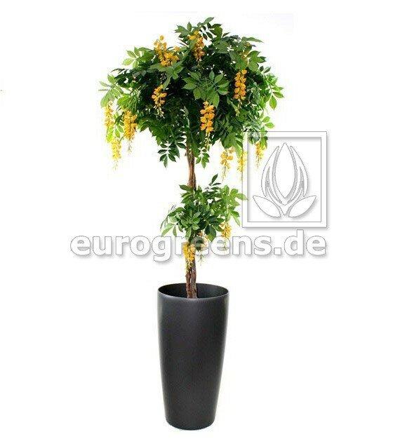 Umelá kvitnúca rastlina Wisteria DLX žltá