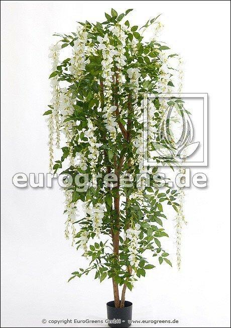 Umelá kvitnúca rastlina Vistéria biela 180 cm