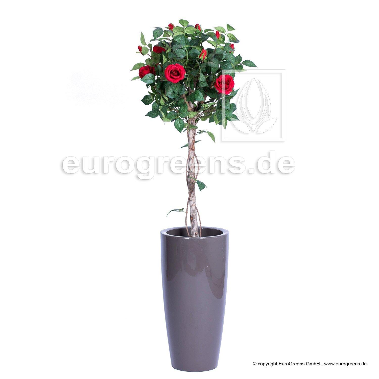 Umělá Růže červená - vysoký kmen 125 cm