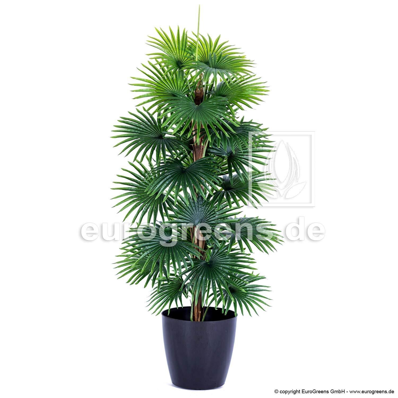 Umělá dekorativní palma Decovego vějířovité listy 150 cm