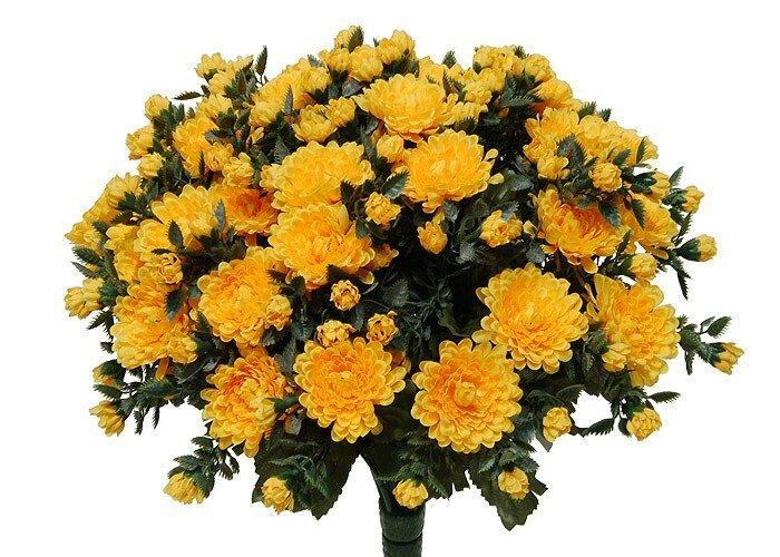 Umělá květina Chryzantémy - světle žluté