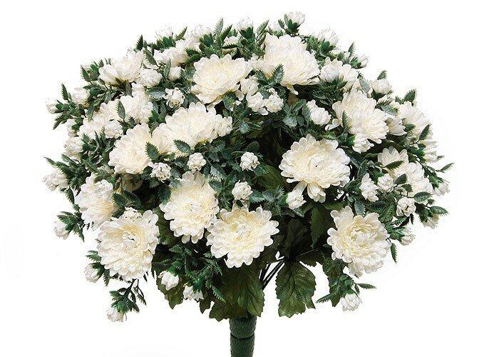 Umělá květina Chryzantémy - bílá
