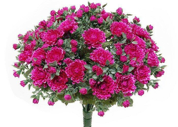Umelá kvetina Chryzantémy - fialová