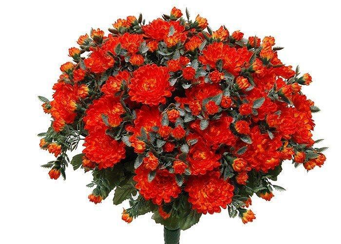 Umělá květina Chryzantémy - oranžová