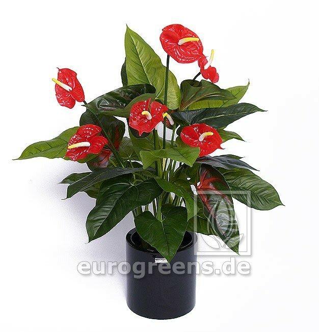 Umělá velká květina Anthurium 90 cm