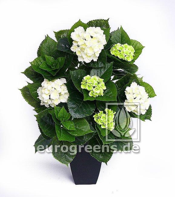 Umělá rostlina Hortenzie - bílá 80 cm