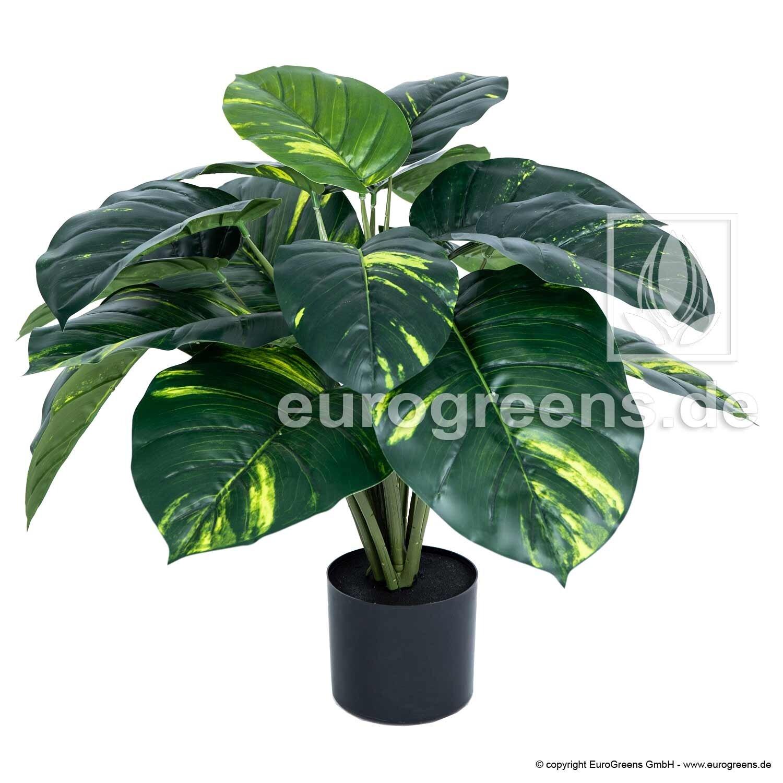 Umelá rastlina Kolokázia žlto-zelená 70 cm