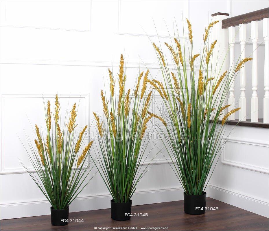 Umělý svazek trávy Kamýš písečný v květináči 90 cm
