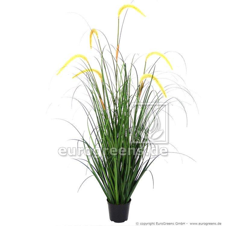 Umělý svazek trávy Kamýš písečný v květináči 105 cm
