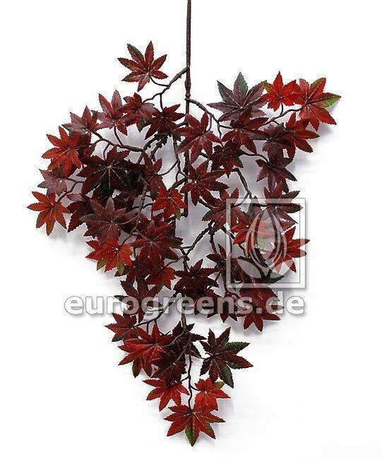 Umělá rostlina - Mini Javor Bonsai větev rezavě hnědá 40 cm